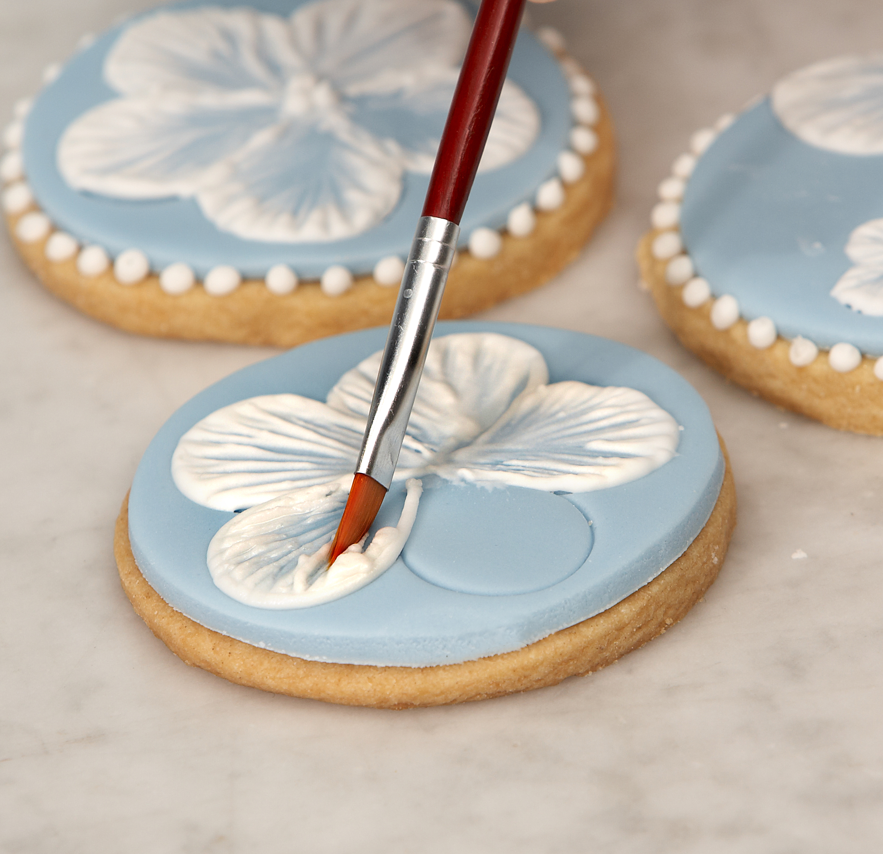 Video: Royal Icing Brush Embroidery Biscuits