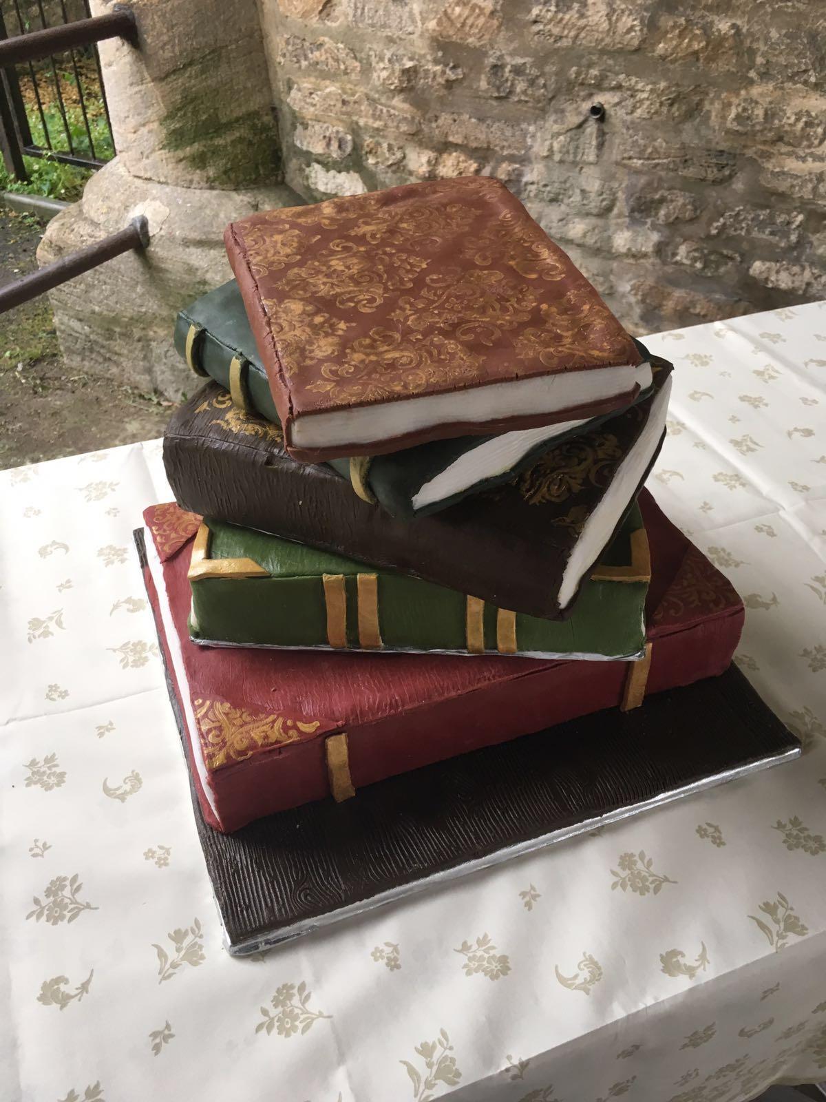 Antique Books Wedding Cake
