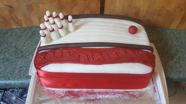 Beginner's Bowling Cake