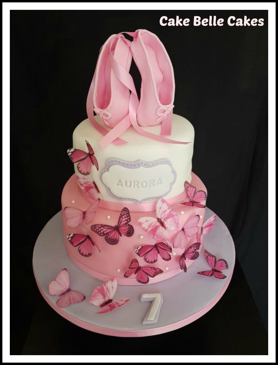 Butterfly and Ballet Shoes Cake