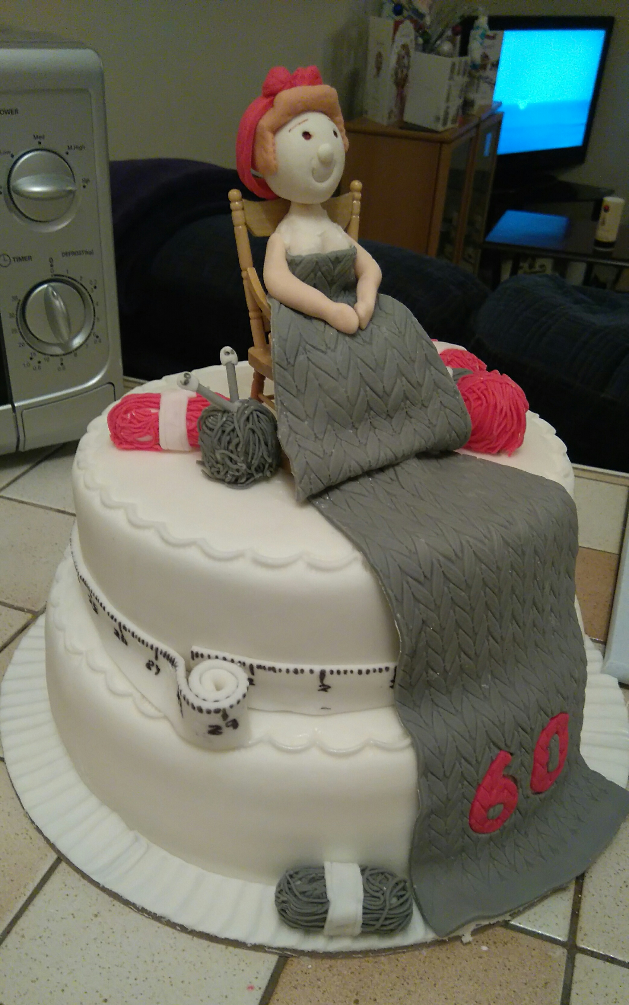 Calendar Girl Knitting Cake