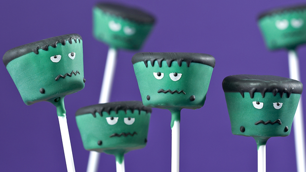 Frankenstein's Monster Cake Pops