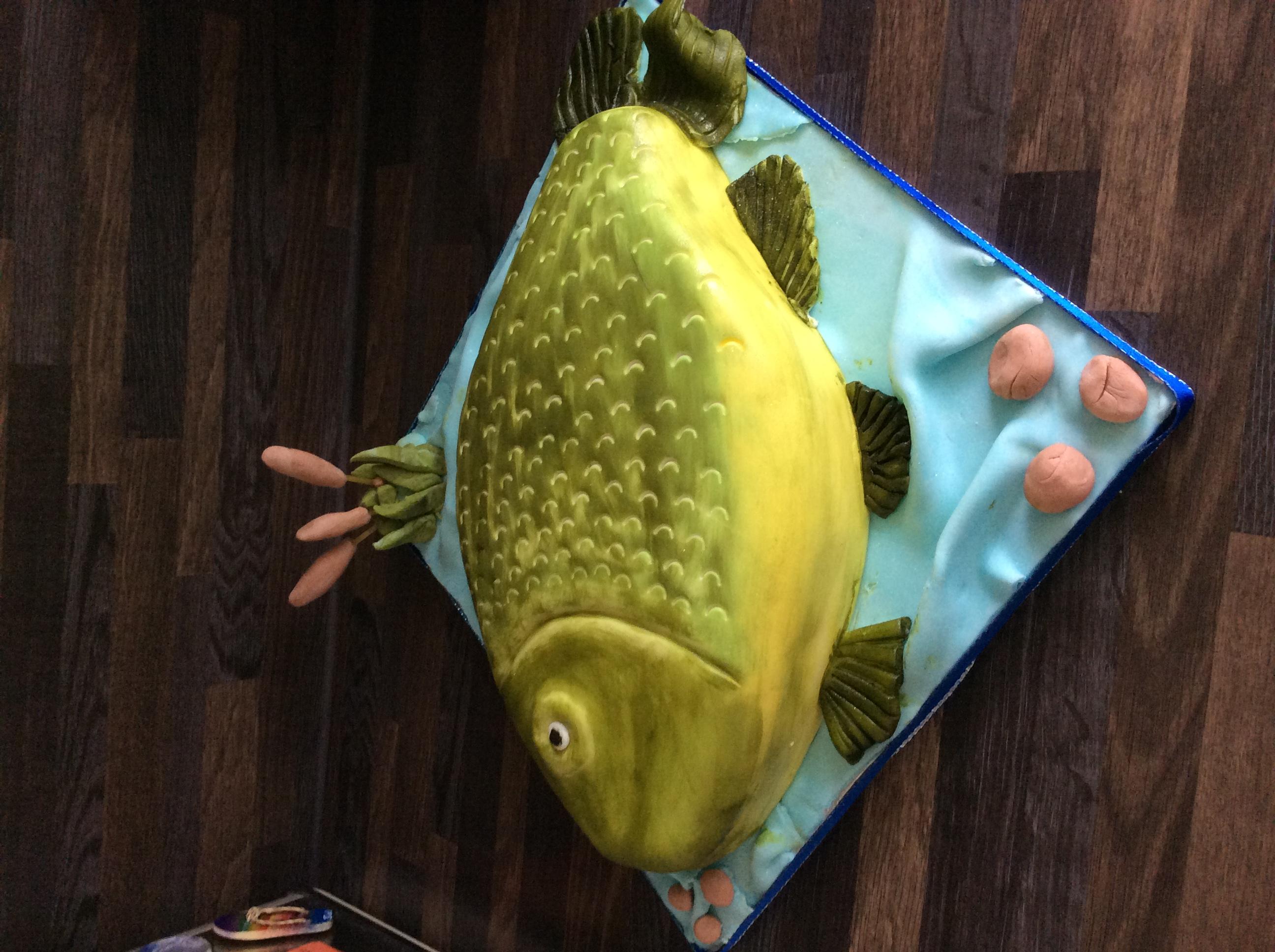 Fish Shaped Cake
