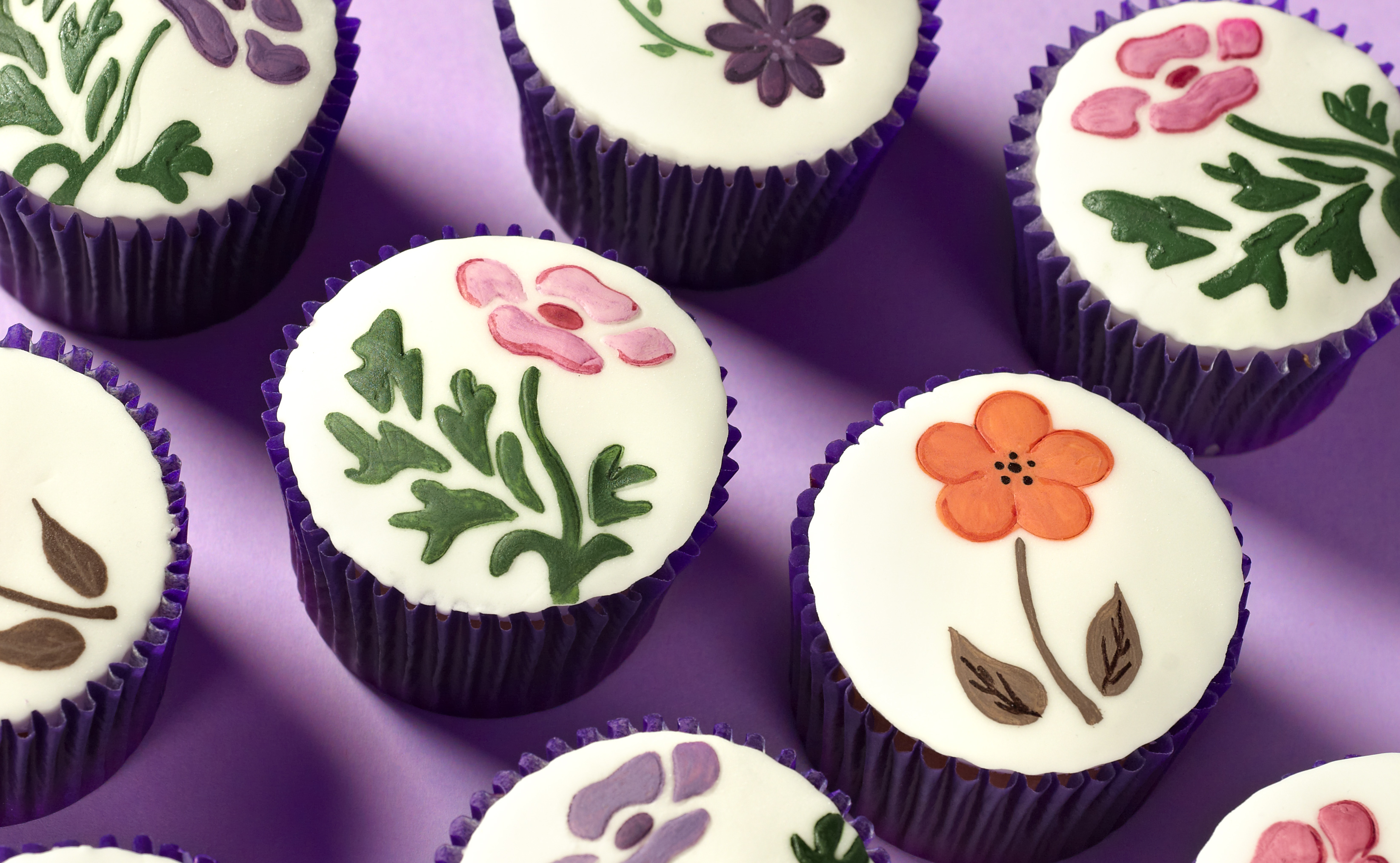 Painted Flower Cupcakes Recipe