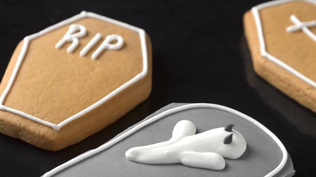 Halloween Graveyard Shortbread Biscuits Recipe