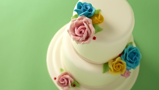 Marzipan Flower Cake Recipe