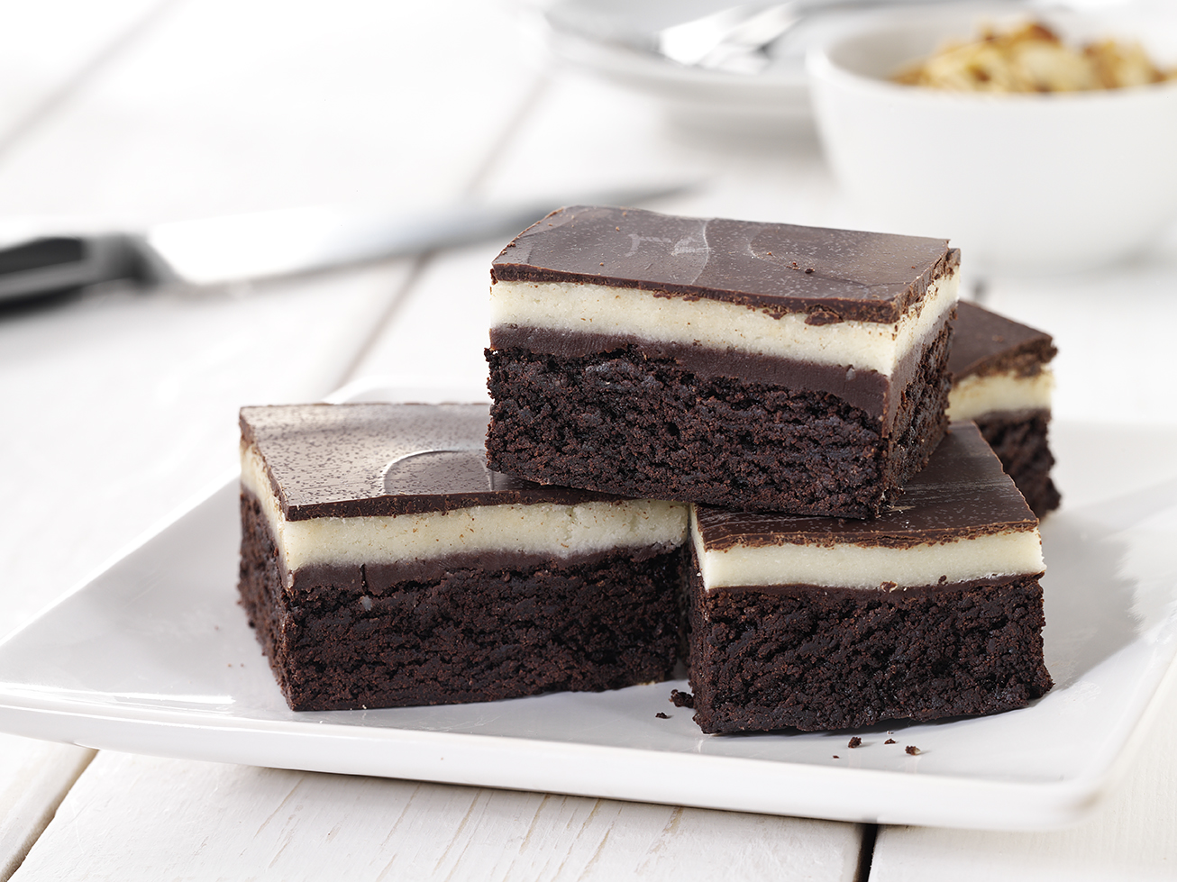Marzipan Brownie Slice