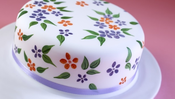 Painted Flower Cake Recipe