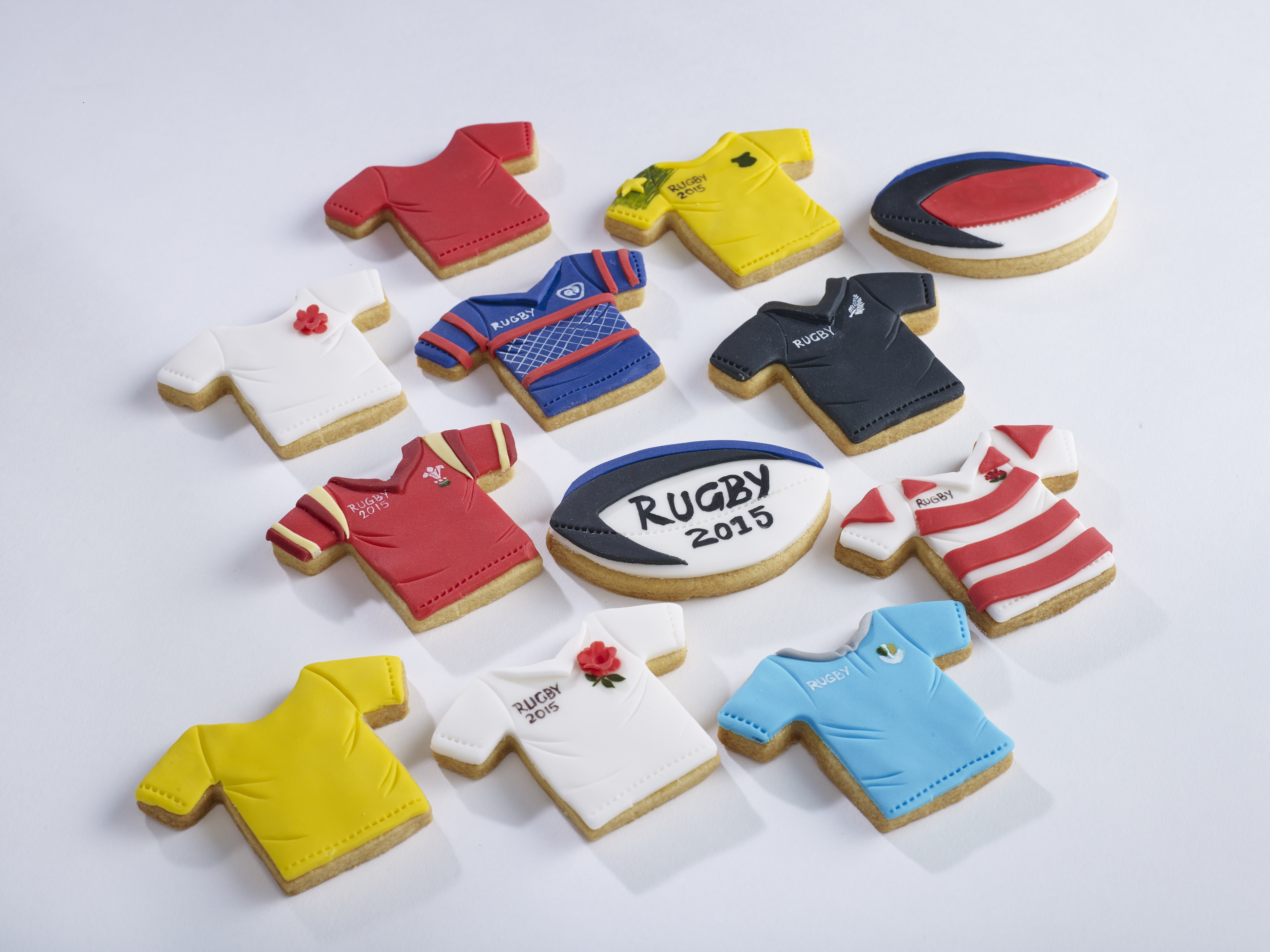 Rugby World Cup Shirt Biscuits