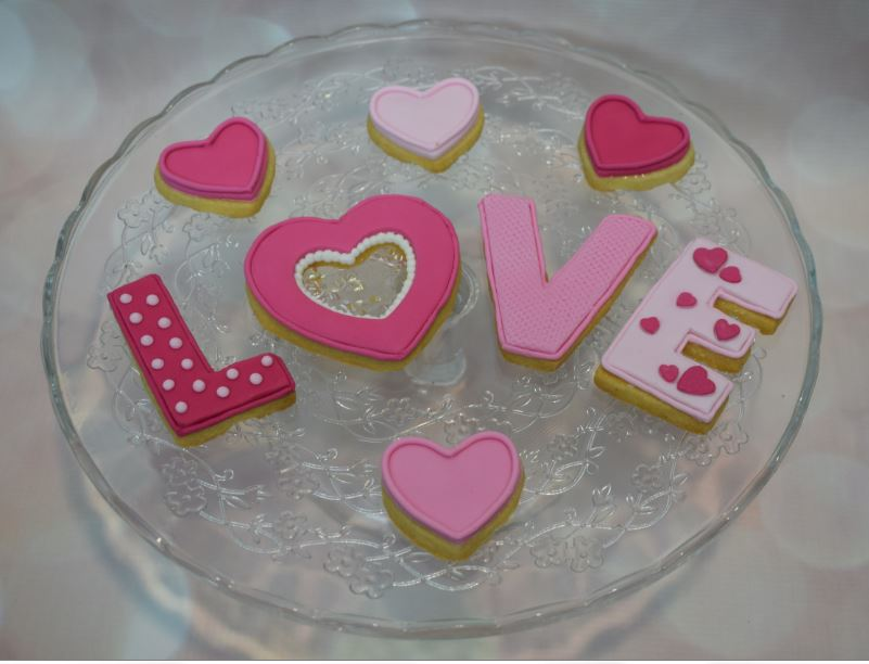 Stained Glass Heart Biscuits