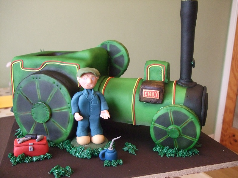 Steam Engine Chocolate Cake