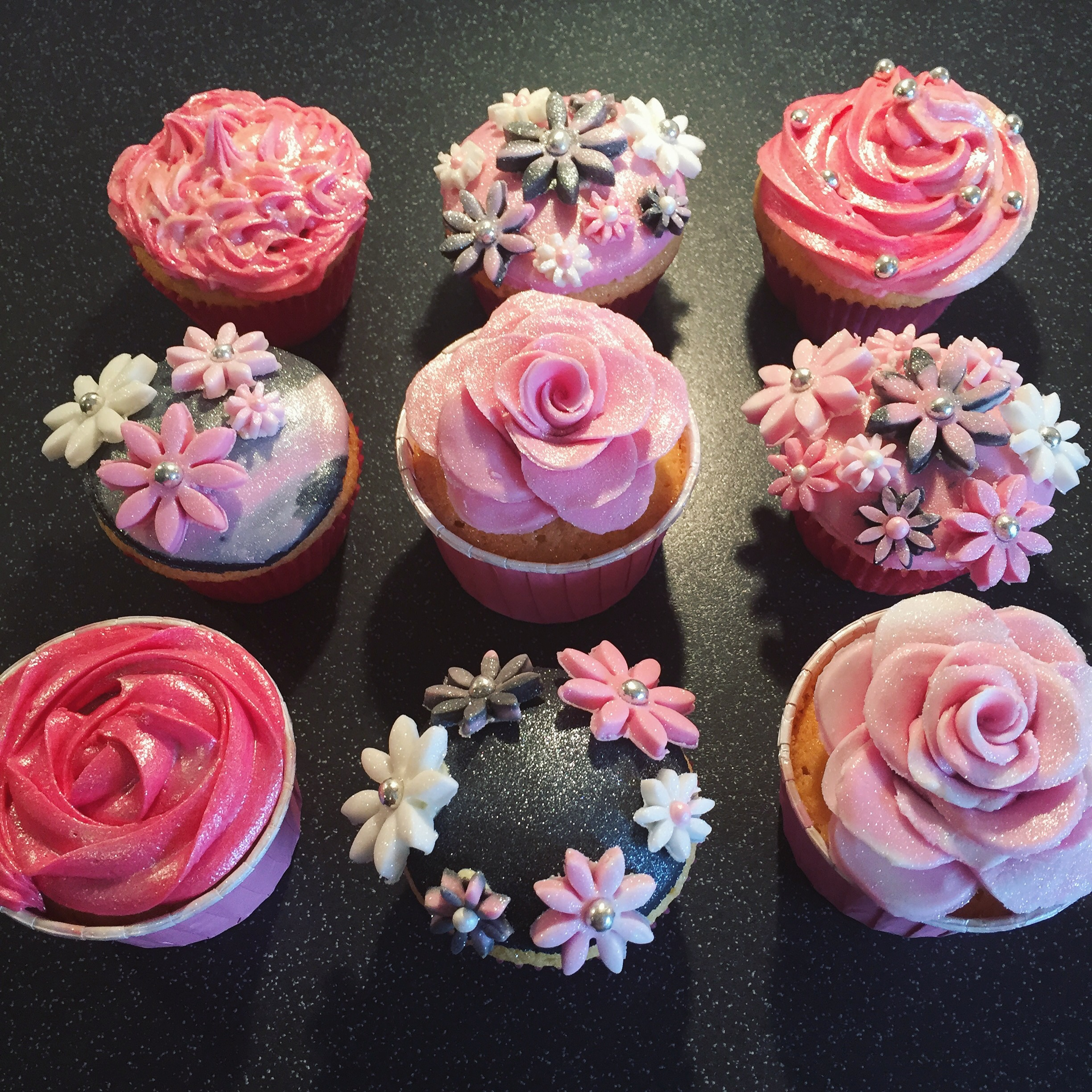 Sunny Flowers of Spring Cupcakes