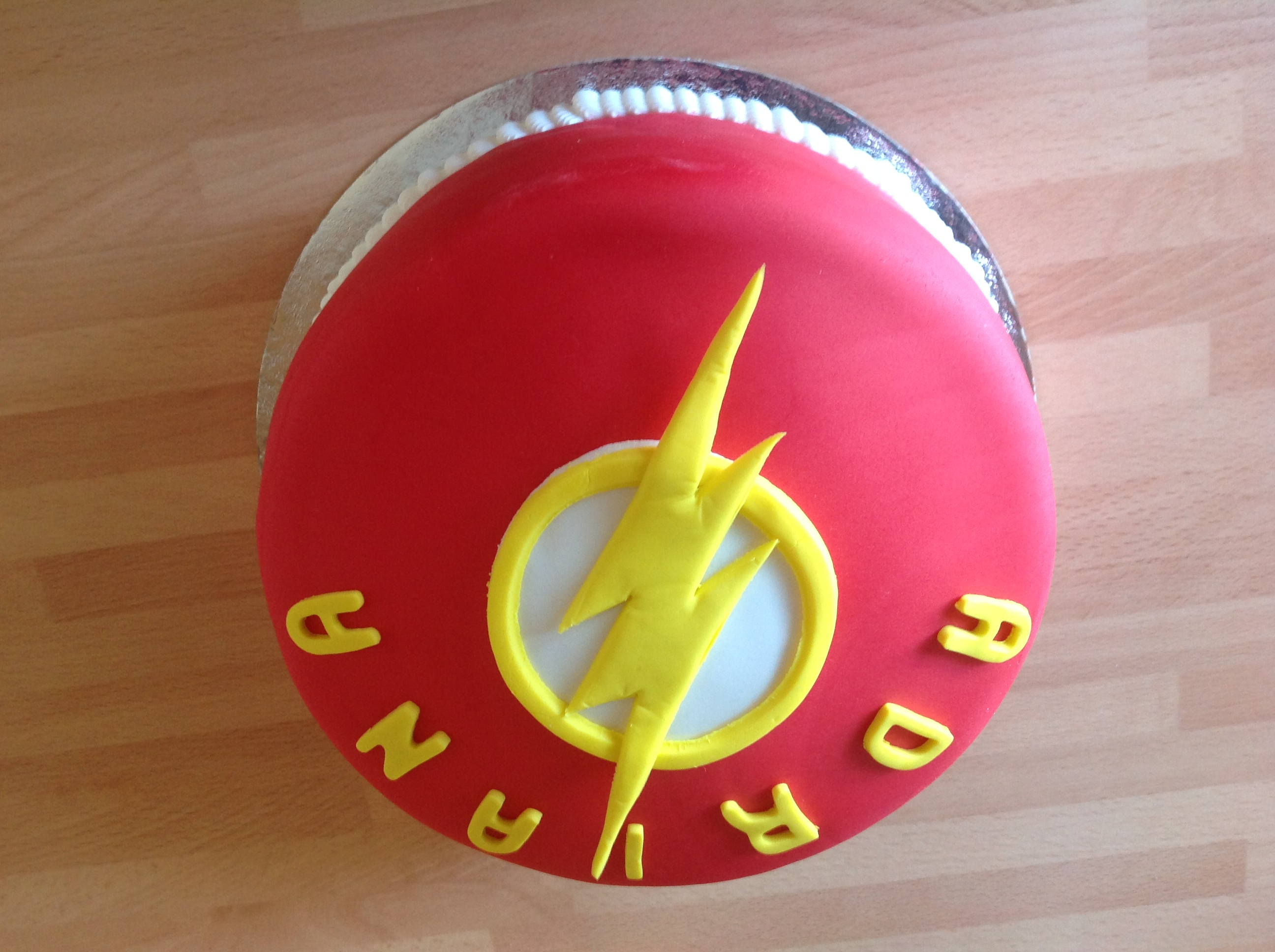The Flash Birthday Cake