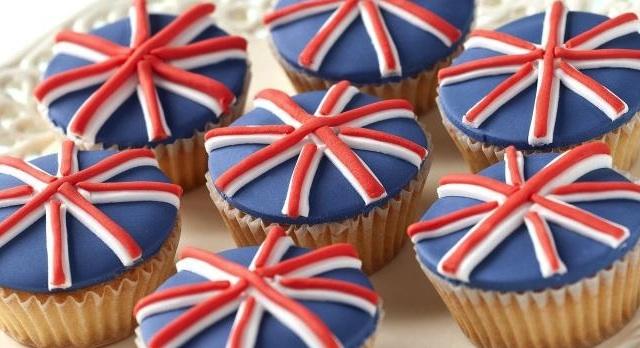 Union Jack Cupcakes Recipe