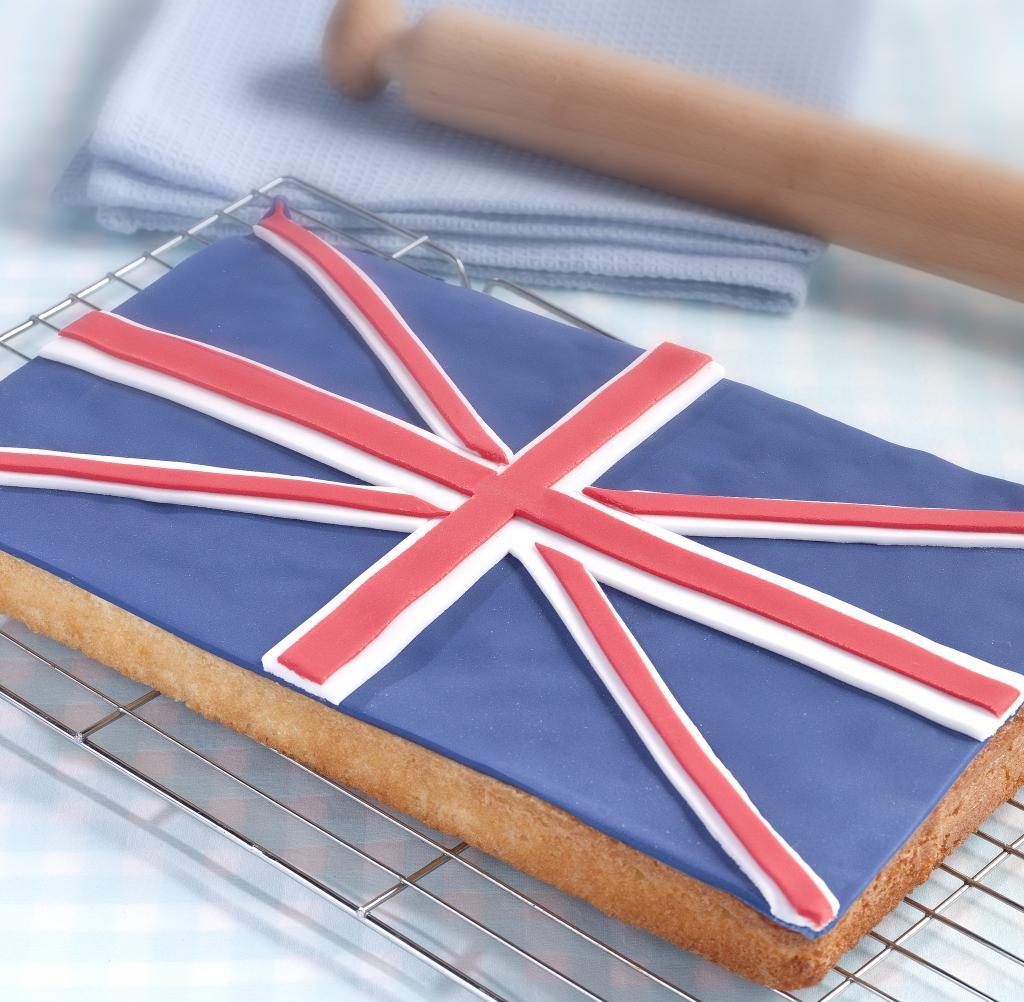 Union Jack Tray Bake Recipe