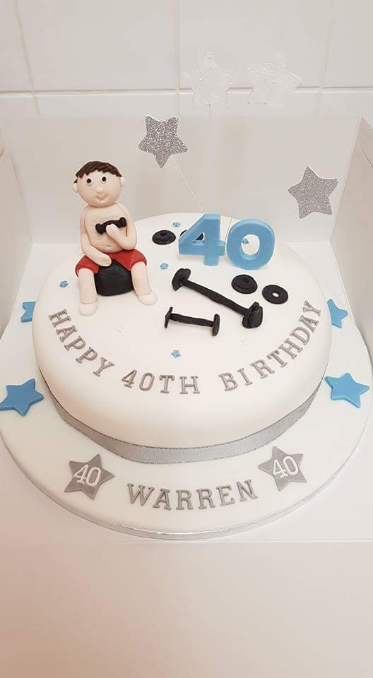 Weight Lifters Birthday Cake