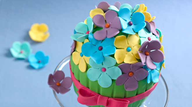 Flower Bouquet Cake Recipe