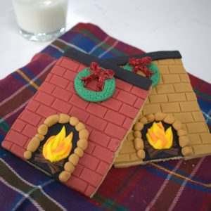 Christmas Fireplace Biscuits