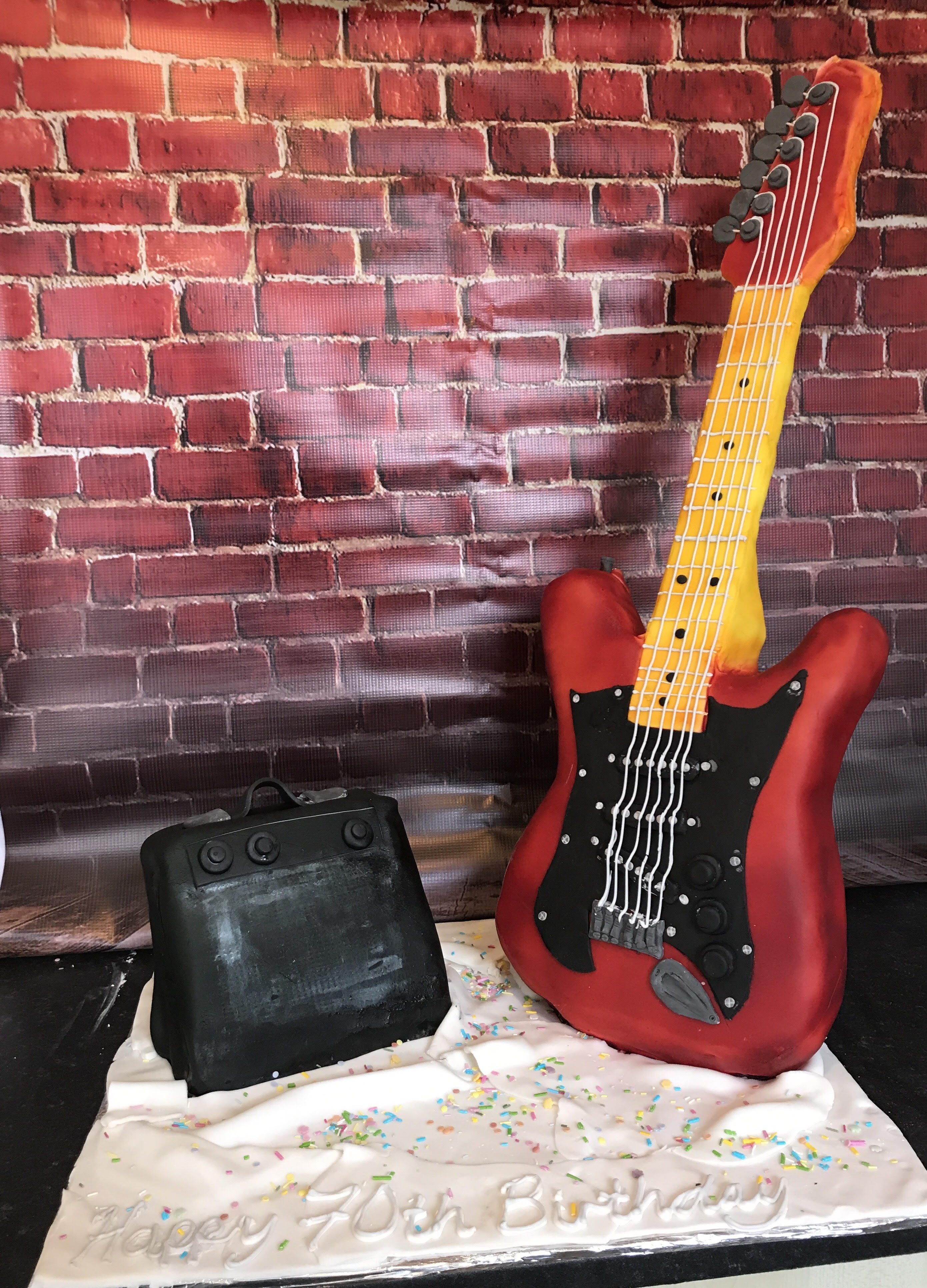 Electric Guitar and Amp Cake