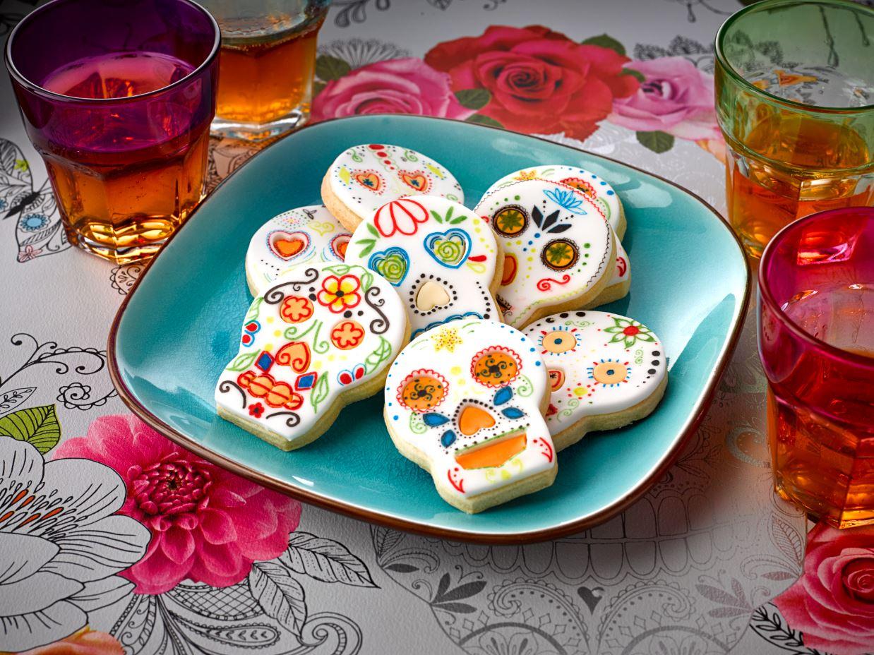 Floral Skull Cookies