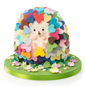 Colourful Hedgehog Cake