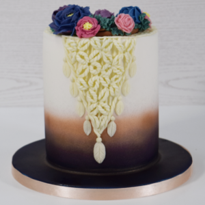 Boho Cake with Buttercream Piped Flowers