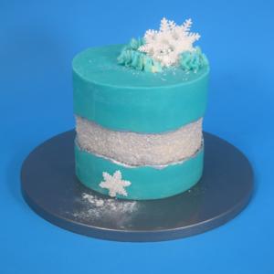 Christmas Fault Line Cake