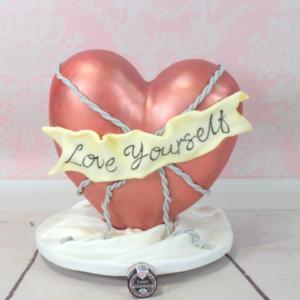 Rose Gold Heart Cake