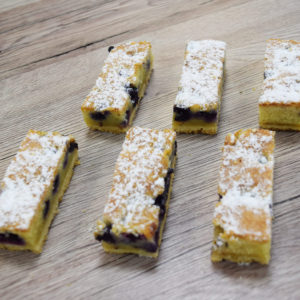 Blueberry, Lemon and Almond Slices