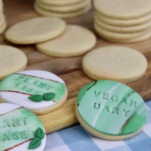 No-Spread Vegan Sugar Cookies by Mr. Baker's Cakes