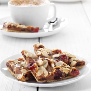 Caramel and Ginger Florentine Slice
